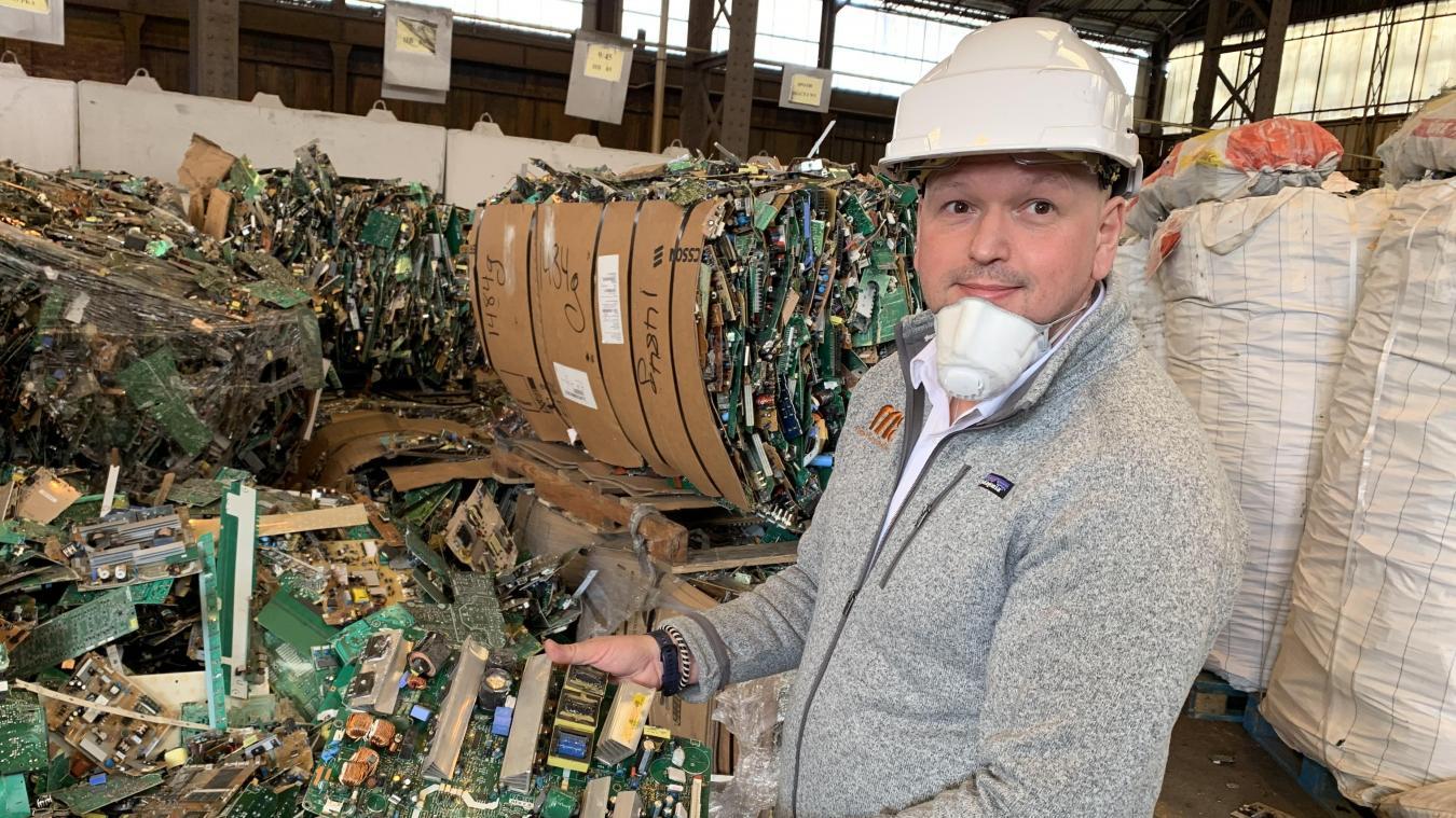 Frédérick Hoedts, directeur général délégué de Weee Metallica, estime que son entreprise recyclera 20 000 tonnes de cartes électroniques en 2020.