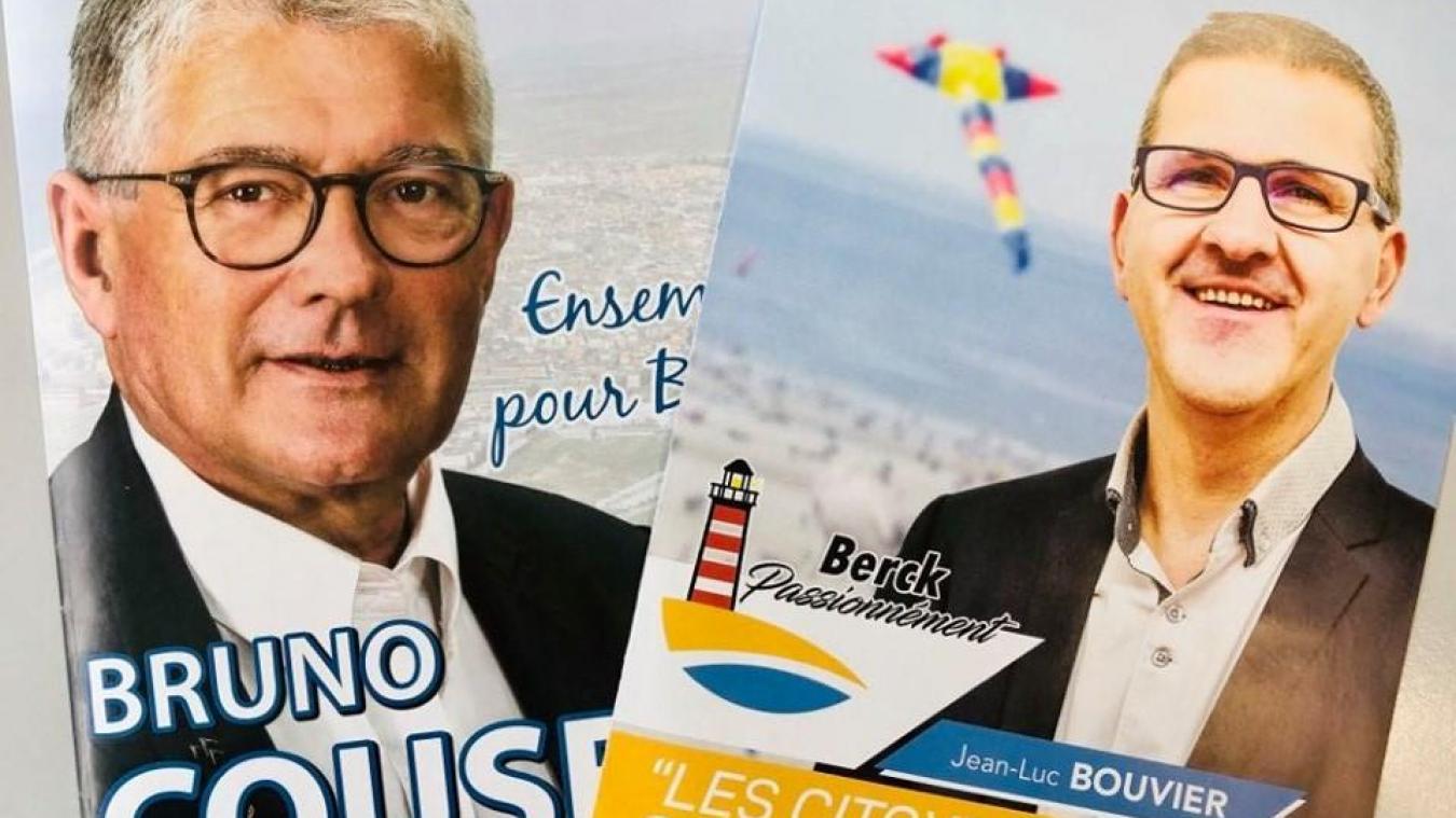 Bruno Cousein mène la liste « Ensemble pour Berck » et Jean-Luc Bouvier « Berck passionnément ».