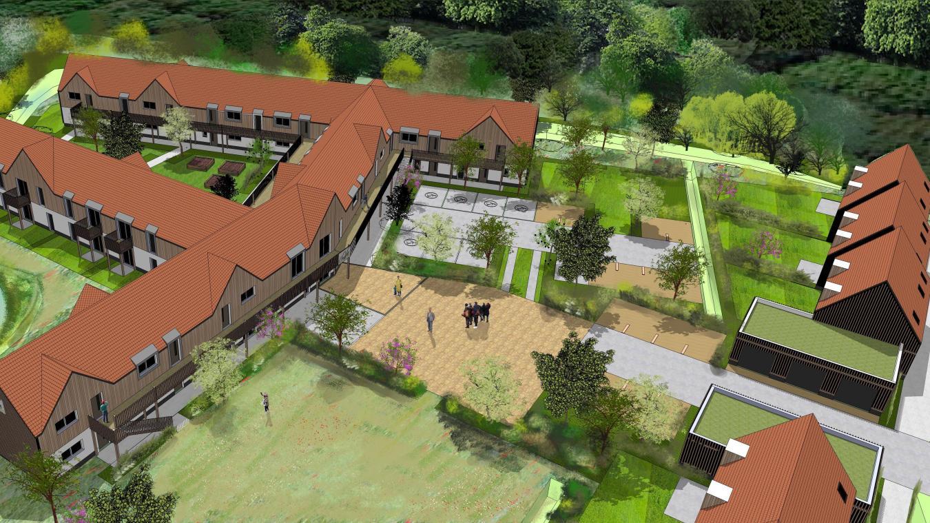 Les Jardins de Calisse seront constitués de  28 logements (deux réservés au personnel) ainsi que de six maisons annexes.