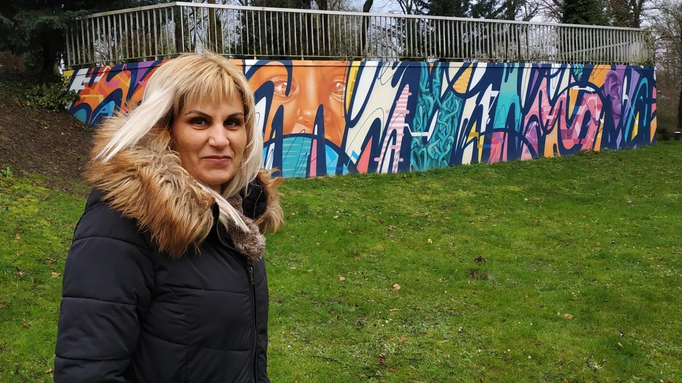 Naceira Vincent aimerait créer un jardin public a deux pas du pont Césarine. Elle est fière de l'essort pris par le Graff à Lens.
