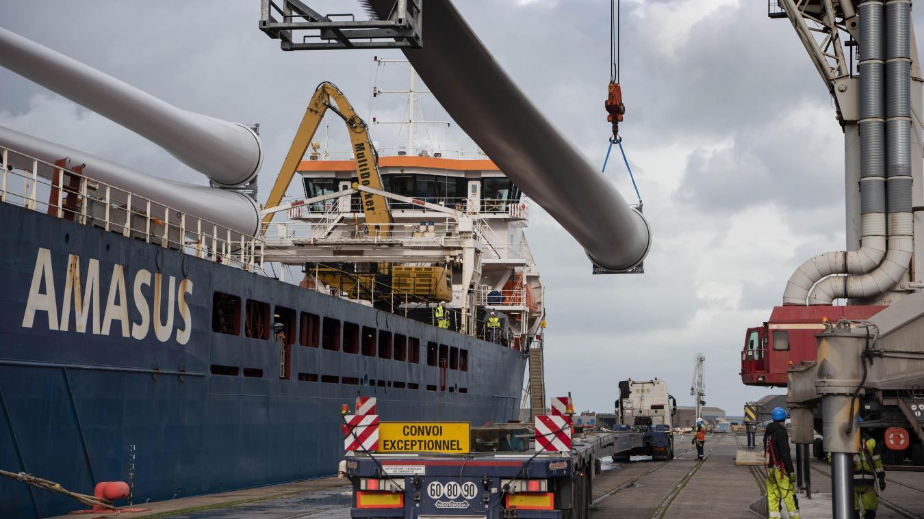 Enercon a choisi le port de Dunkerque pour ses pales d'éoliennes