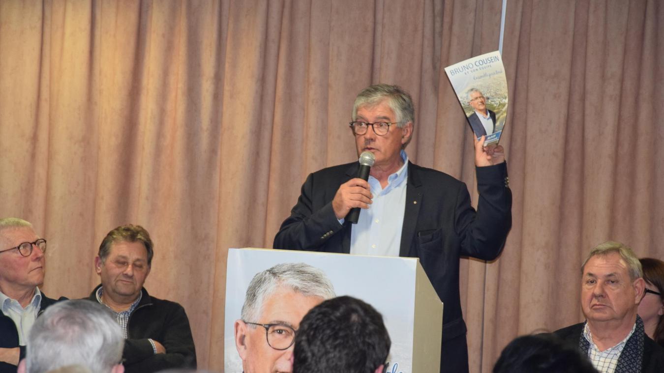 Bruno Cousein a tenu sa première réunion publique à seulement 9 jours du scrutin. La seconde aura lieu ce mercredi 11 mars à 18h30 au Kursaal.