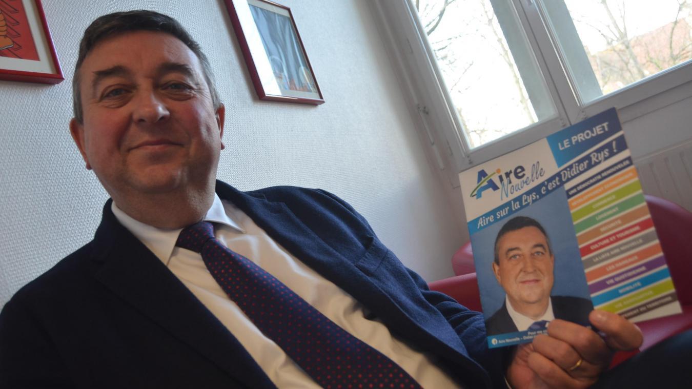 Didier Rys, candidat à la succession de Jean-Claude Dissaux (maire depuis 12 ans), présente le programme concocté avec son équipe depuis un an et demi.