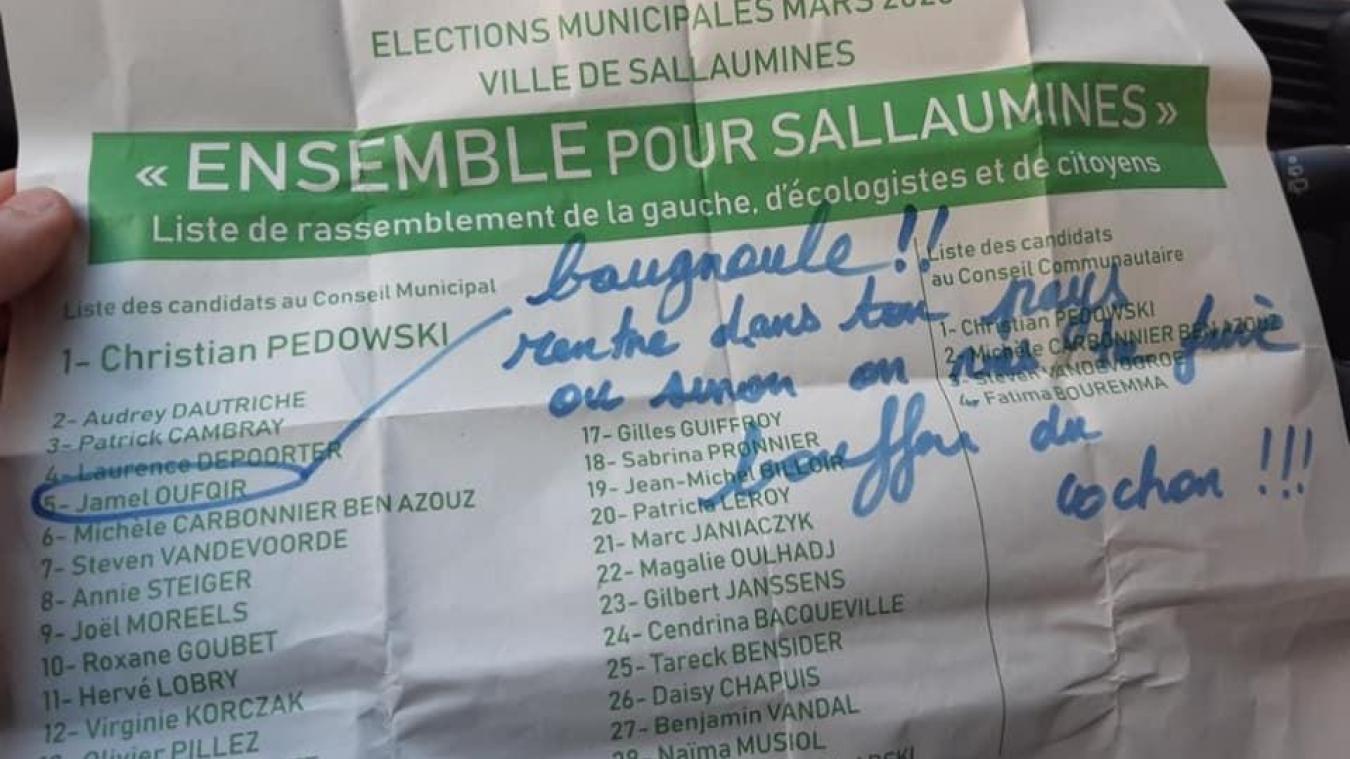 Sallaumines: Insultes et menaces envers un colistier du maire sortant
