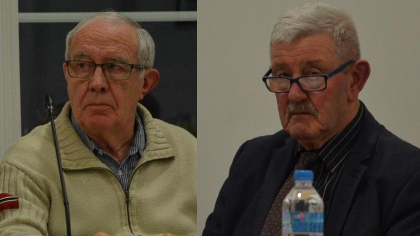 C'était le dernier conseil municipal pour deux élus  : Michel Nicolet et Maxime Leroy.