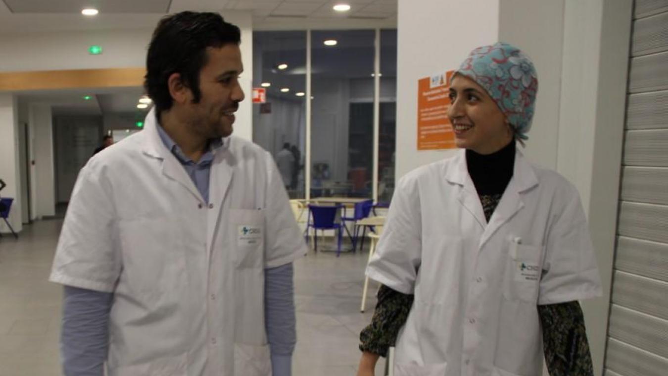 Hamza et Ilhem Benelhadj Djelloul sont les deux cardiologues à temps plein, spécialisés imagerie, du Centre hospitalier de Dunkerque.