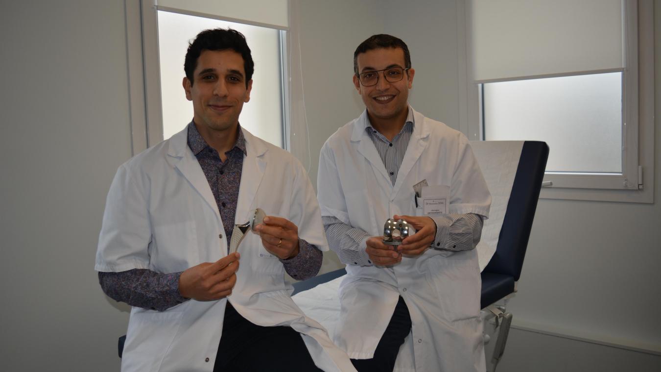 Yassine Bulaïd et Massinissa Dehl, chirurgiens orthopédistes, sont arrivés à la clinique en janvier.