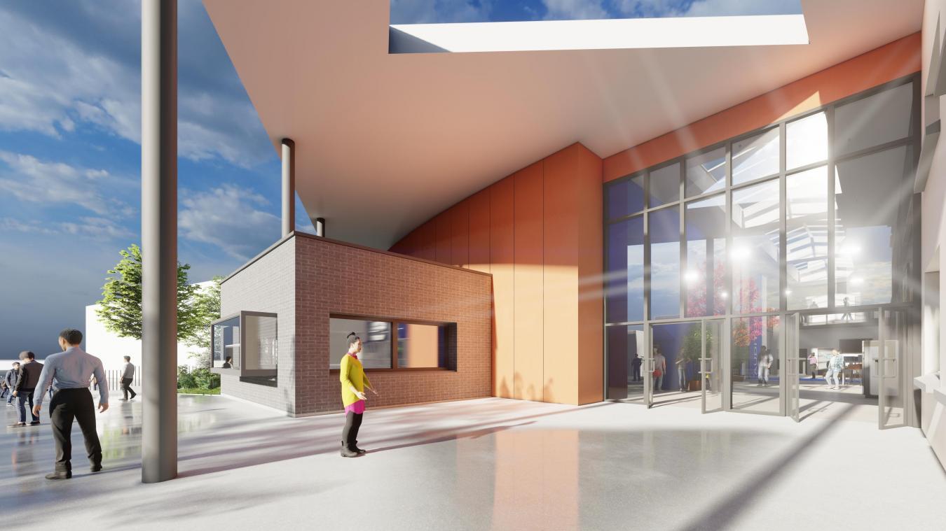 L'entrée de l'établissement sera aussi reconfigurée, agrandie et relocalisée à l'angle de la rue de Calais et de la rue de Malborough.