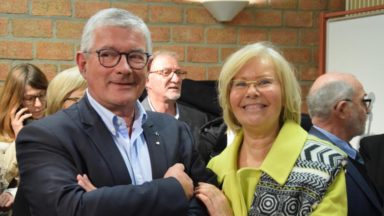 Bruno Cousein et son épouse savourent la victoire.