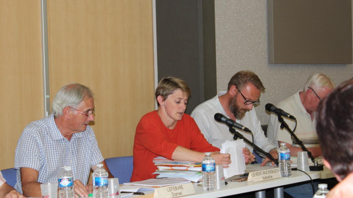 Isabelle Levent-Ruckebusch lors du dernier conseil municipal.