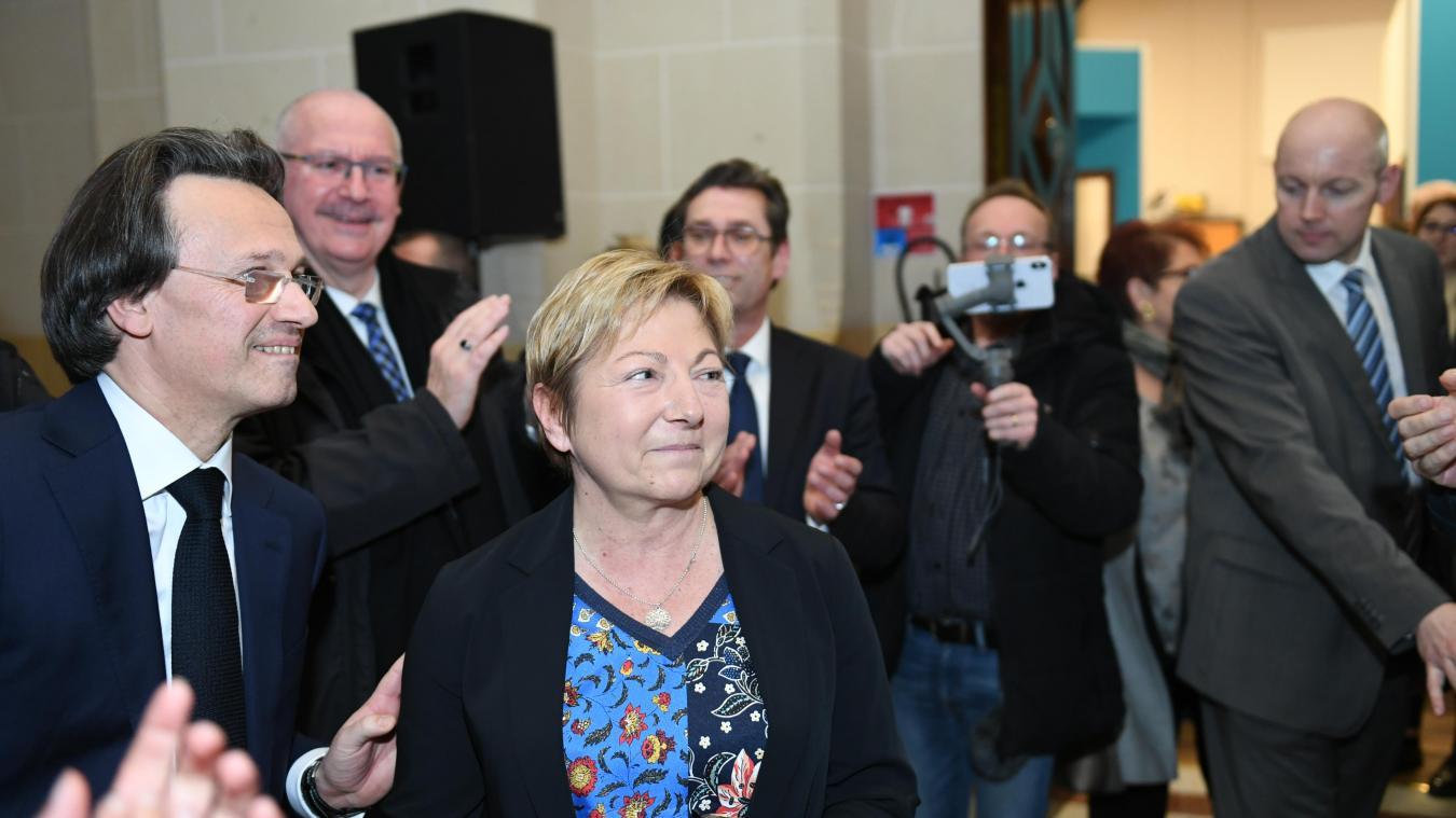 Natacha Bouchart a été réélue au premier tour à Calais hier. Elle entamera un troisième mandat.