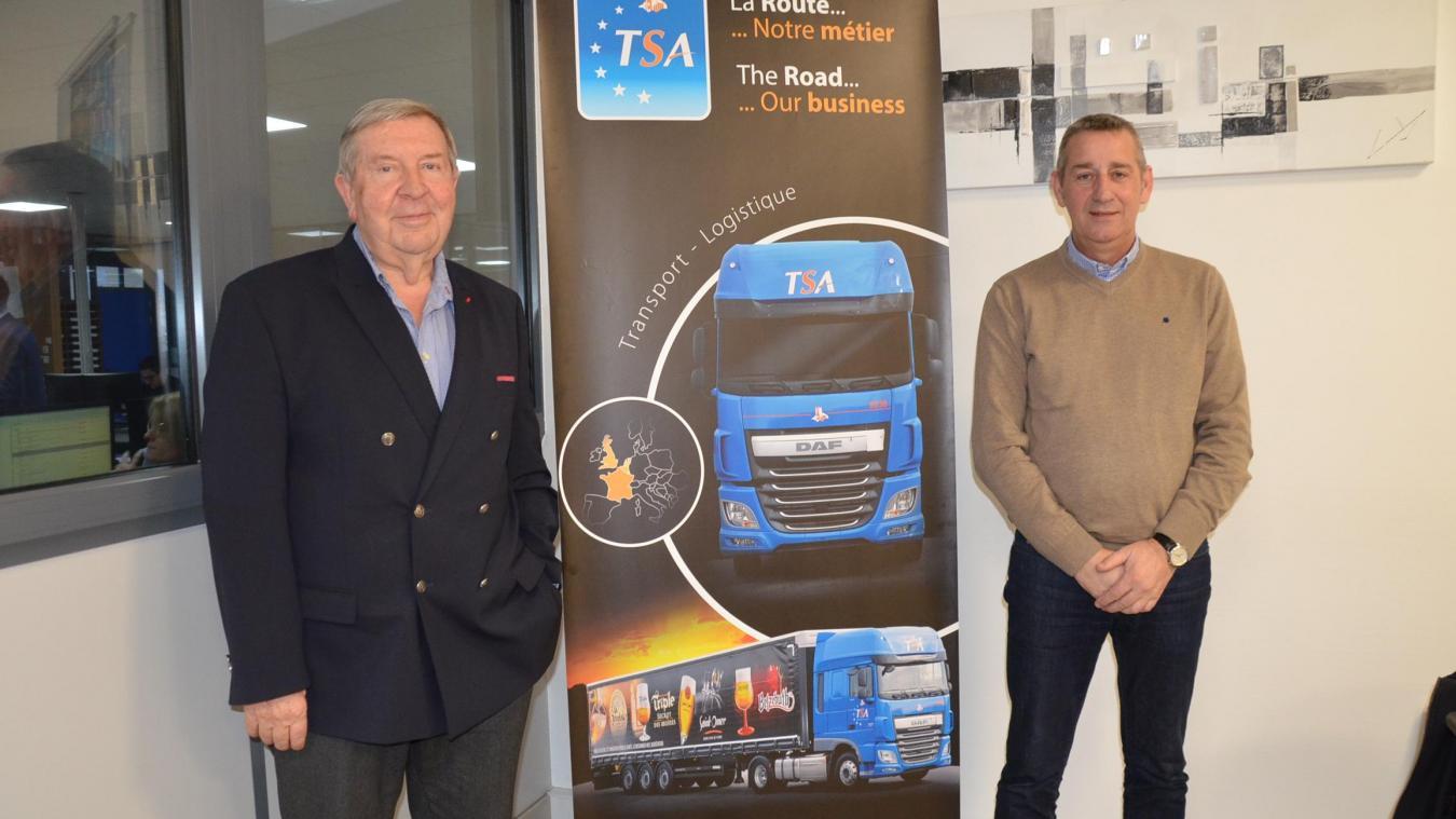André Pecqueur et Patrick Wecxteen sont les premiers témoins du développement continu de leur entreprise de transport.