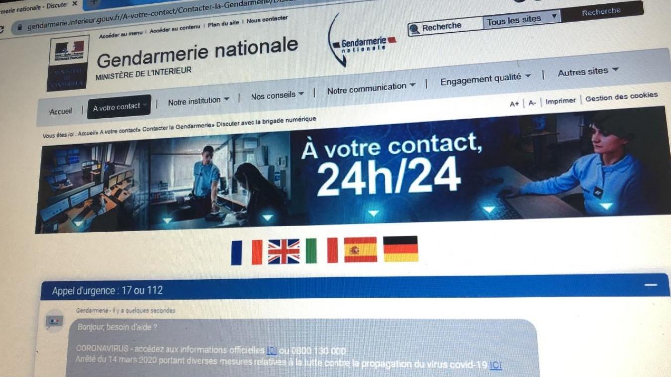 La brigade numérique est accessible 7j/7 via le site de la gendarmerie nationale.