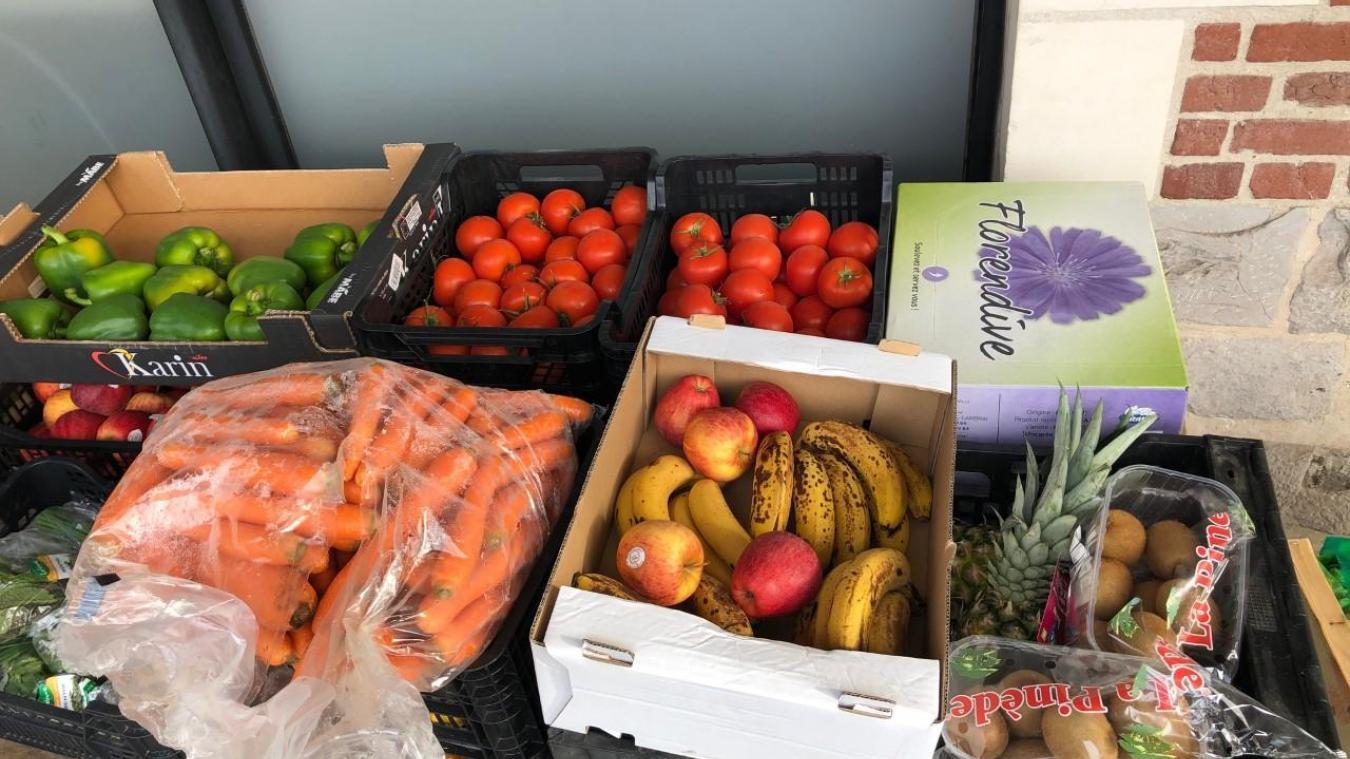 Une partie des produits frais a été donnée à deux associations locales.