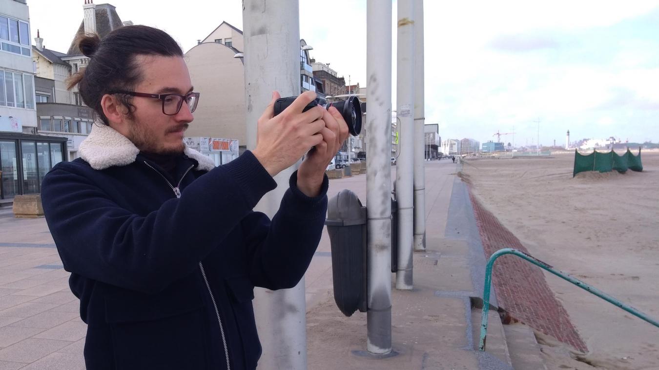 Thomas Thilliez sur le tournage de son long-métrage.
