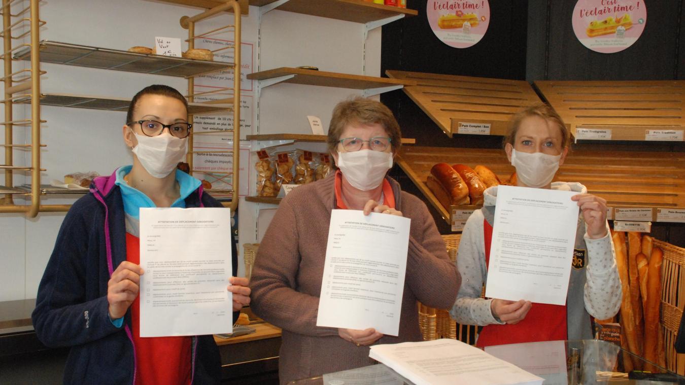 A la boulangerie Leblond comme dans les 3 autres enseignes de la ville, le document est disponible.
