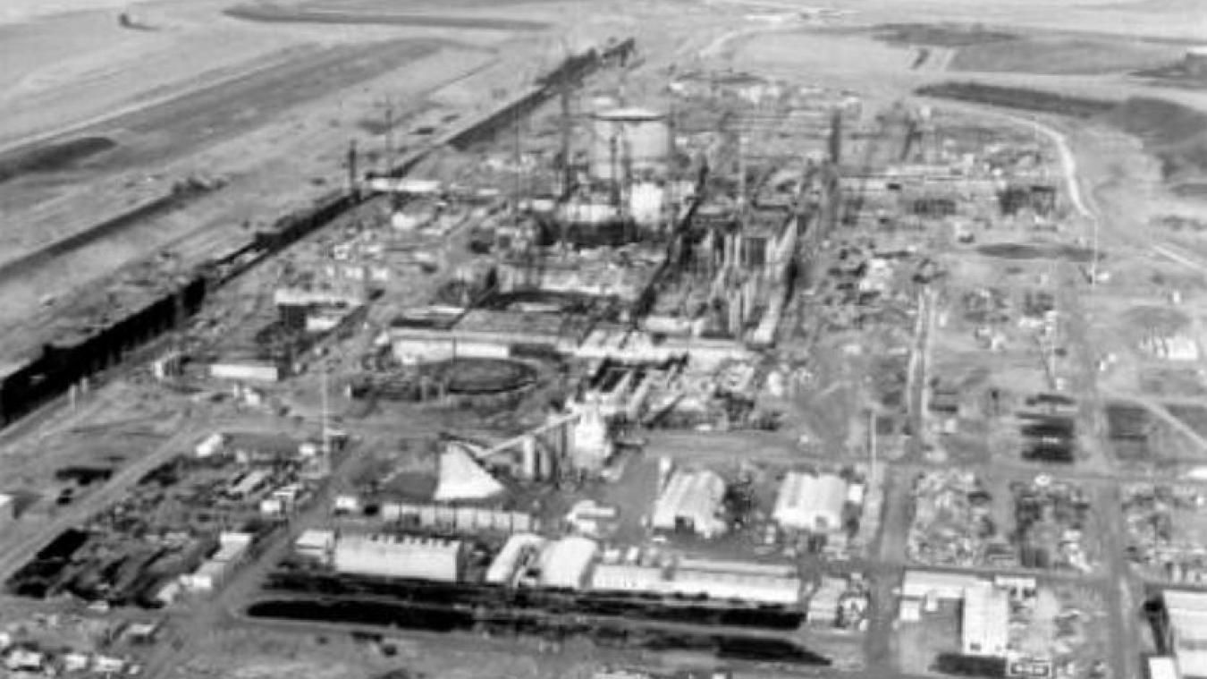 Le chantier de la centrale a démarré en 1975.