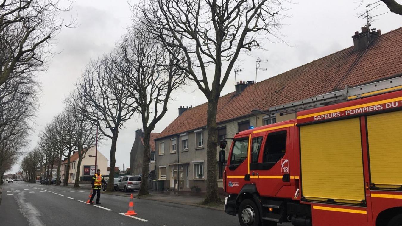 Calais: Feu de cheminée route de Saint-Omer