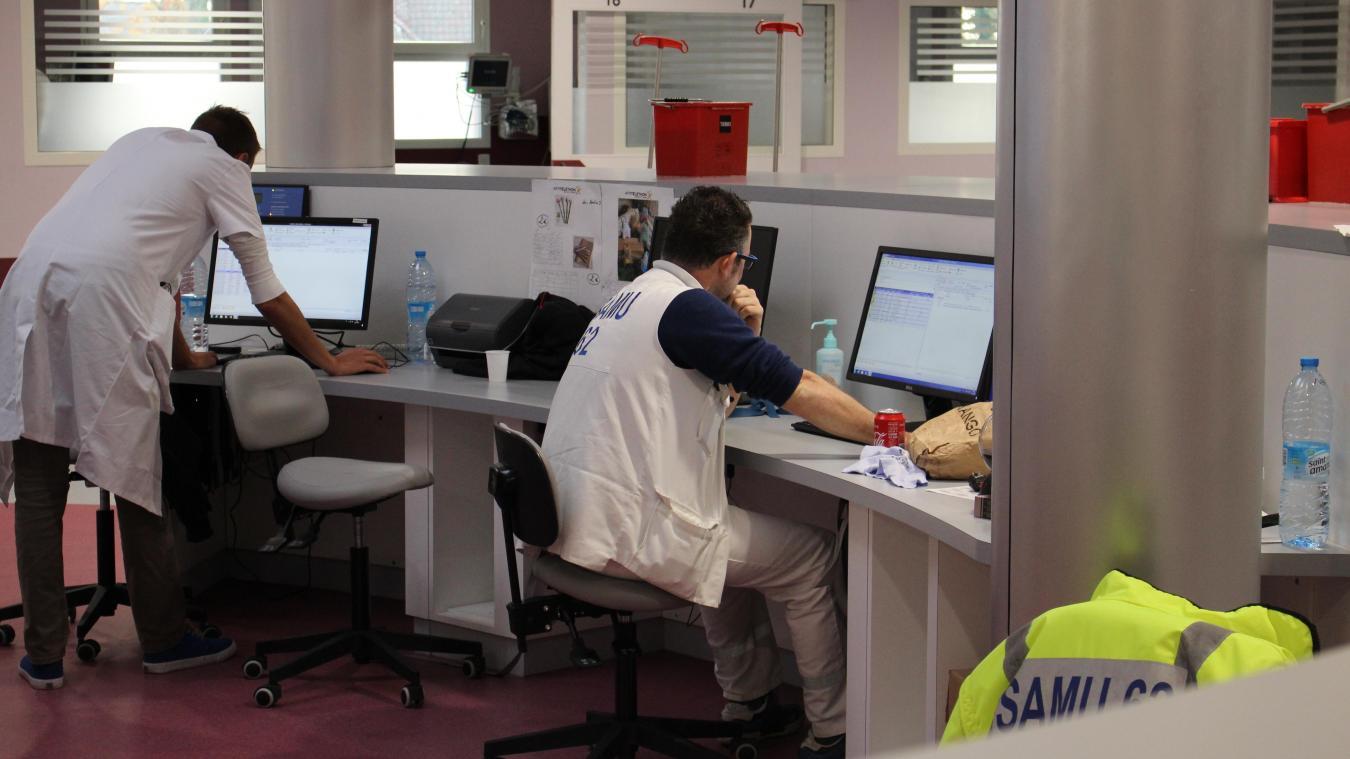 Le service des urgences de l'hôpital d'Helfaut.