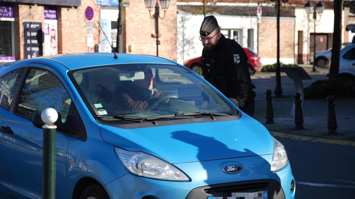 Les gendarmes ont mené une opération de contrôle à Merville dimanche matin.