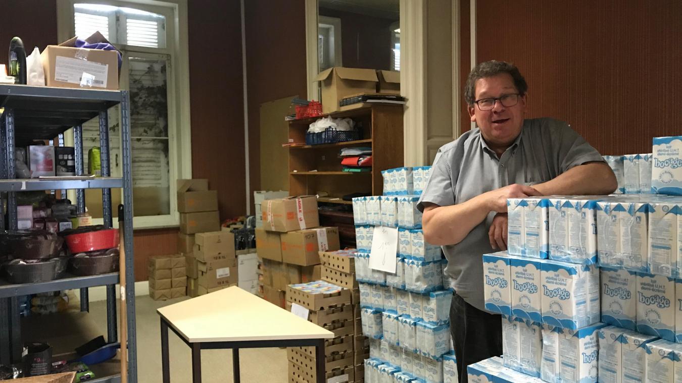 Jean-Paul Cotte, le président de la Croix Rouge d'Hazebrouck, est à la recherche de bénévoles.