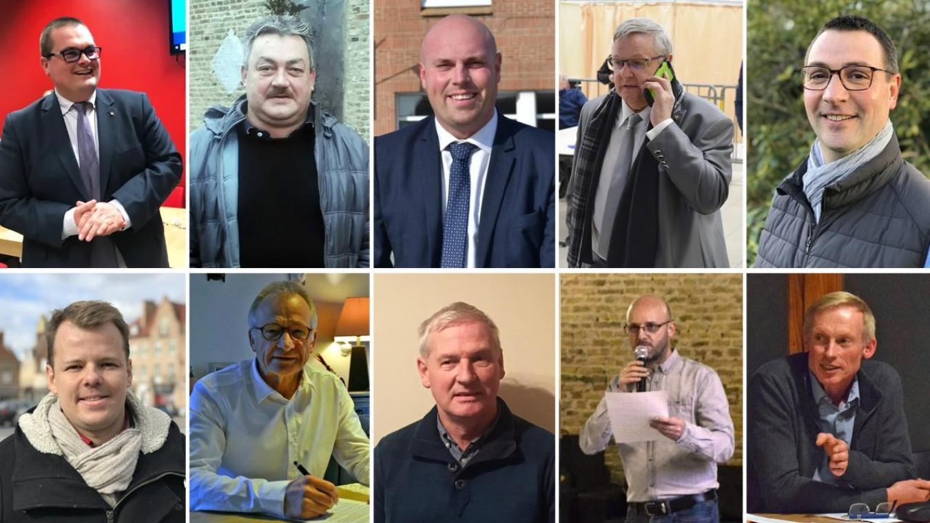 Dans le Dunkerquois et en Flandre, dix nouveaux maires élus au dès le premier tour se confient sur la situation. De Grégory Bartoloméus (en haut à gauche) à Stéphane Francke (en bas à droite), leurs propos ont été classés dans leur ordre d'apparition en photo.