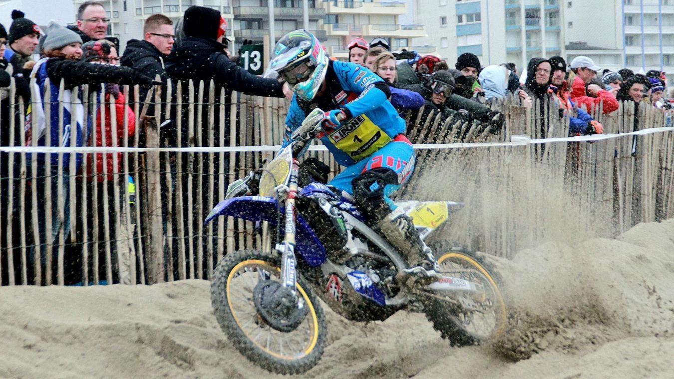 Triple vainqueur de l'Enduro du Touquet, Adrien Van Beveren met en jeu l'une de ses motos.