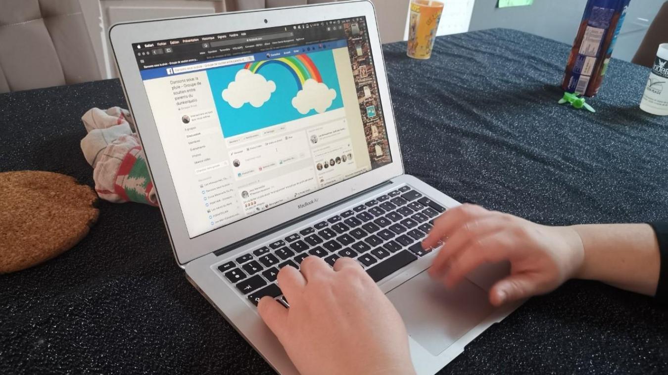 La page Facebook créée par l'association veut être un lien de solidarité entre les familles dunkerquoises.