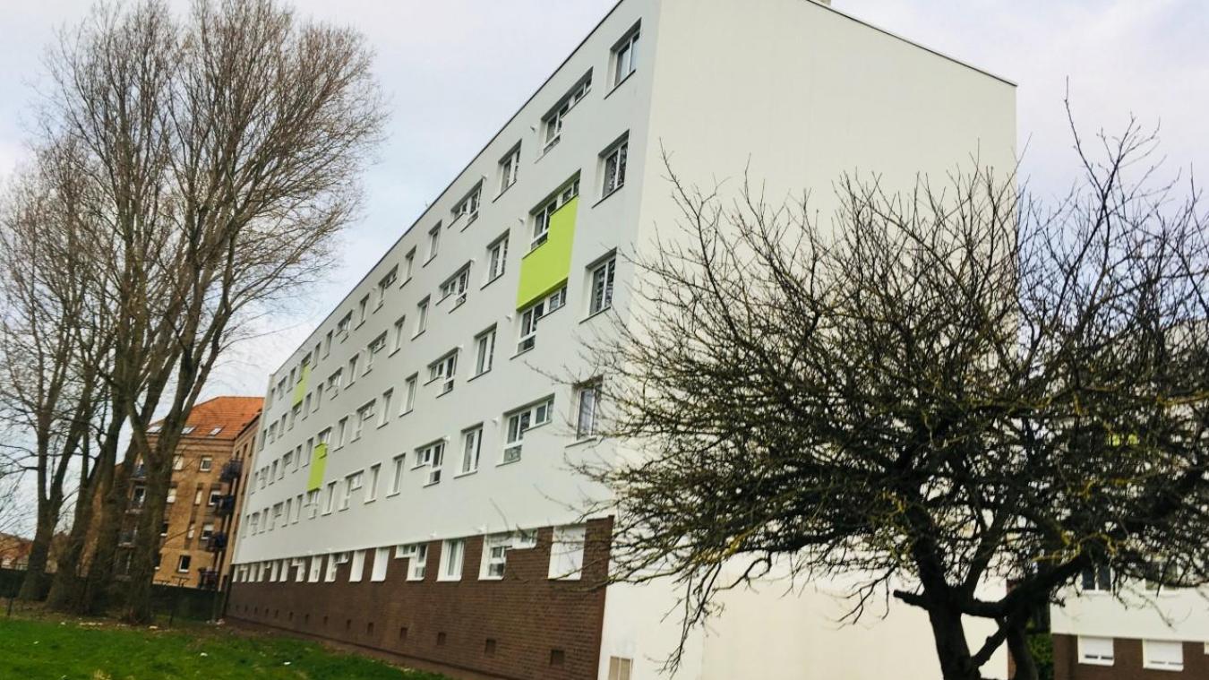 Partenord insiste sur ses efforts, en matière d'énergie, comme ici, résidence Braille, où le bâtiment classé F, avant les travaux, est désormais classé B.
