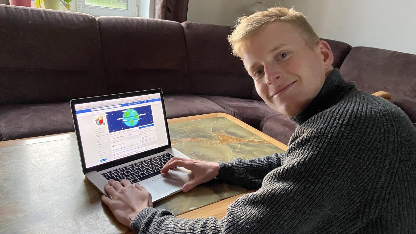 Thibault Vanheeghe, étudiant, met en relation les consommateurs et les commerçants du Calaisis.