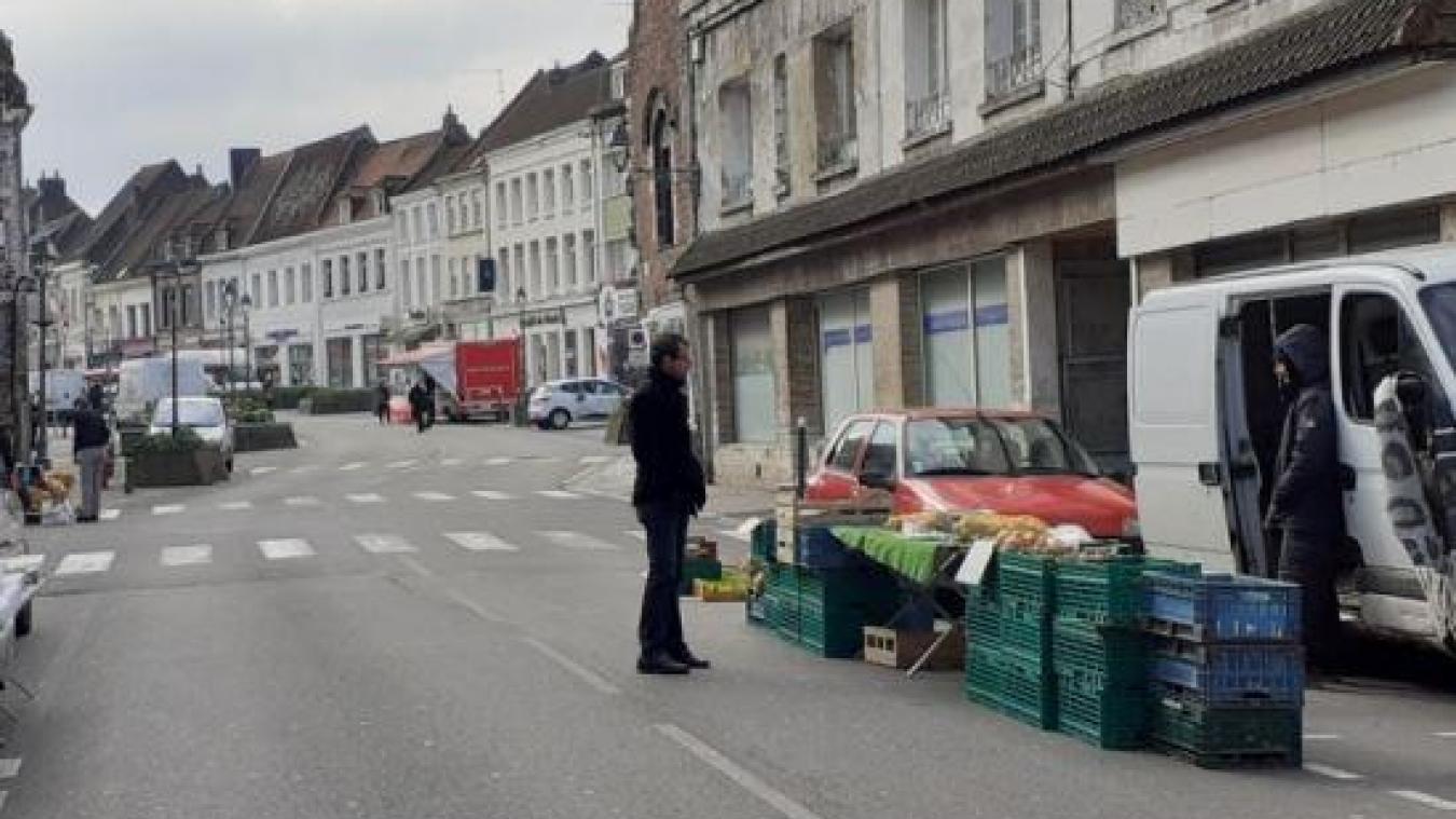 Le marché hebdomadaire de Lillers samedi 21 mars.
