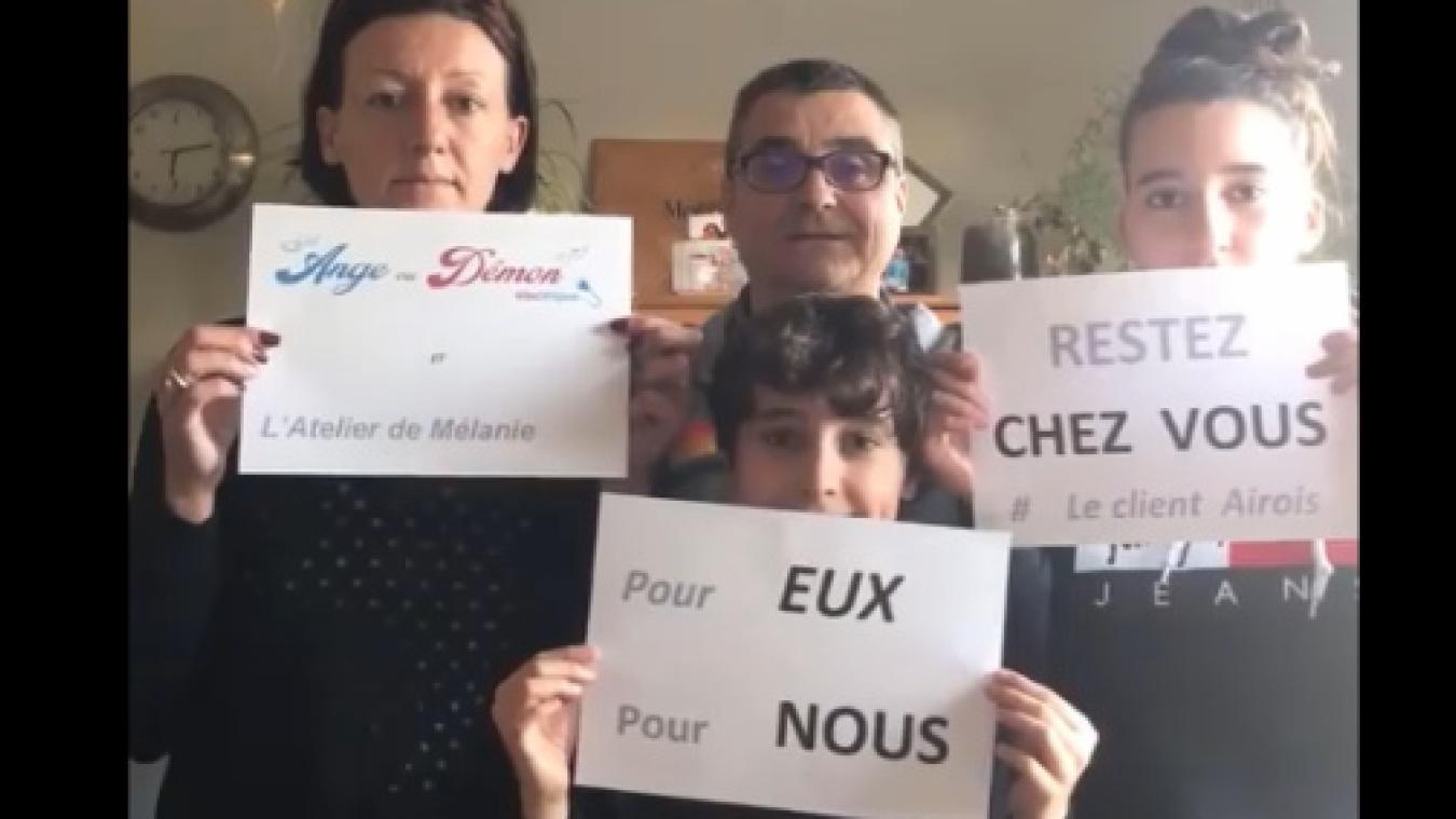 Toutes ces vidéos de soutien aux soignants à Aire-sur-la-Lys