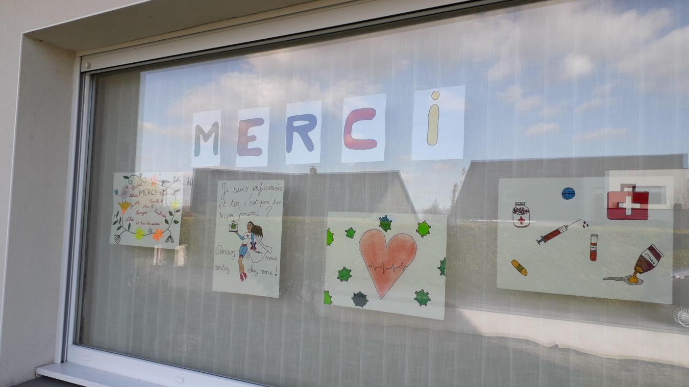 Roxane Boutté a déjà reçu de nombreux dessins d'enfants.