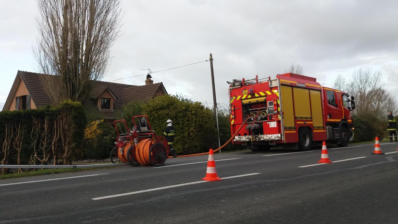 Les sapeurs-pompiers sont intervenus route Principale samedi, en fin d'après-miid.