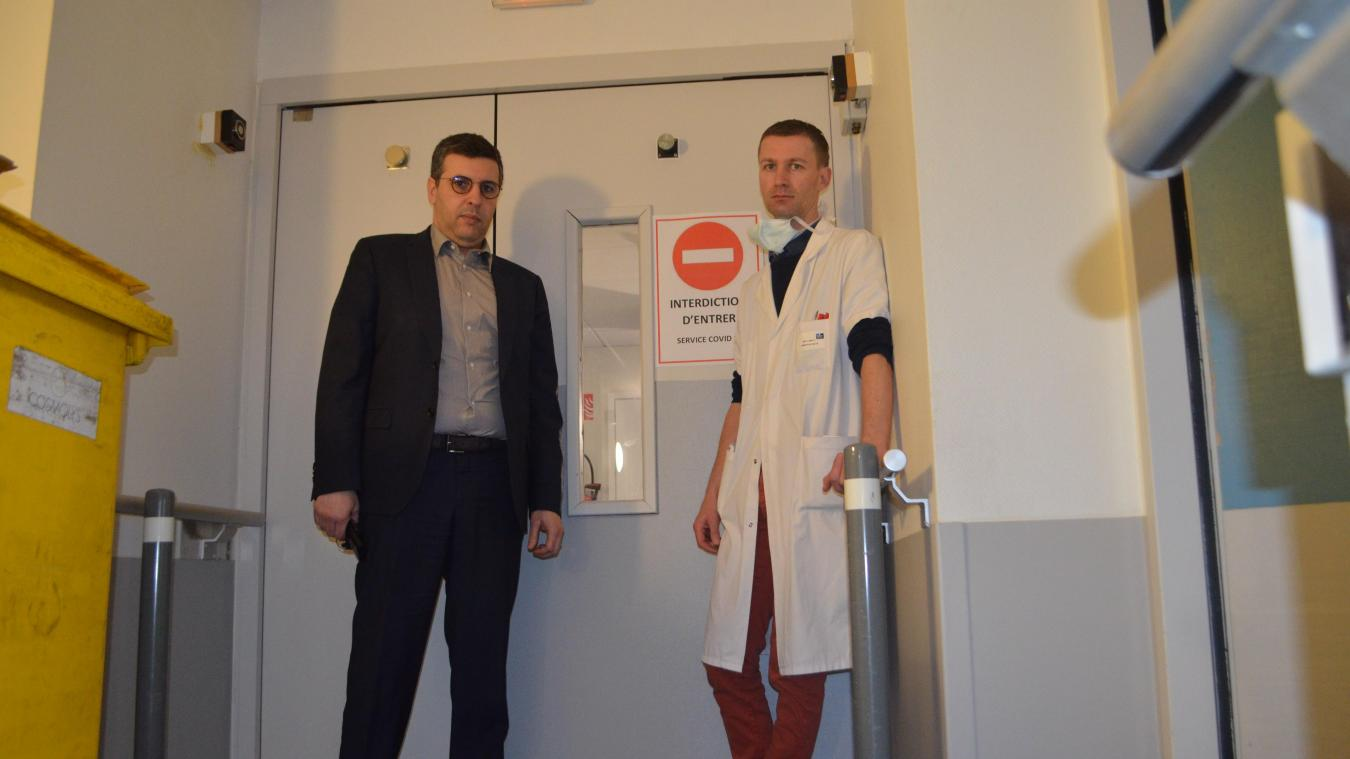 Adel Belfihadj, directeur de l'hôpital privé Les Bonnettes, et le docteur Antoine Duwat.