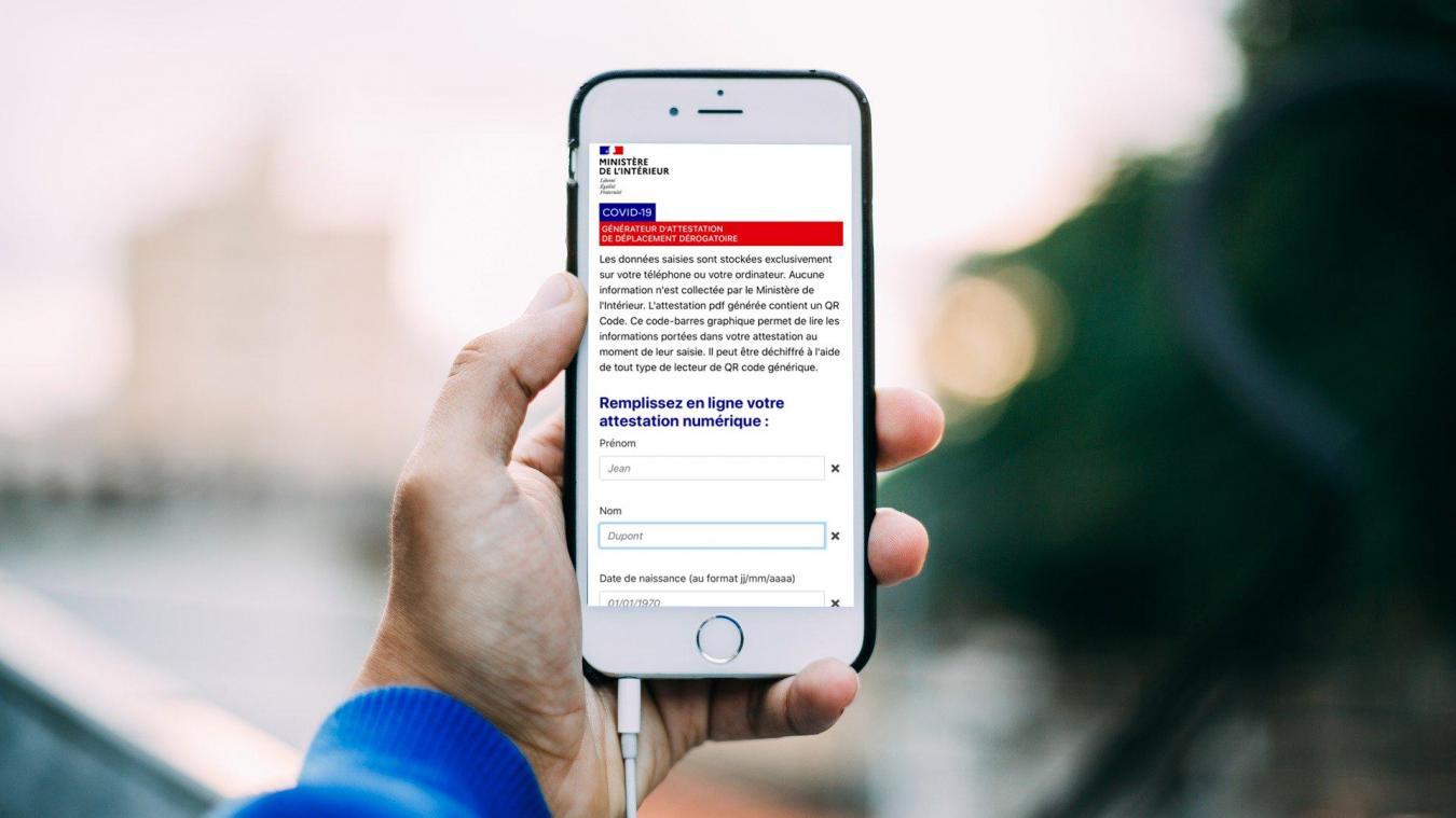 L'attestation de déplacement dérogatoire sur smartphone est disponible depuis ce lundi 6 avril 2020.