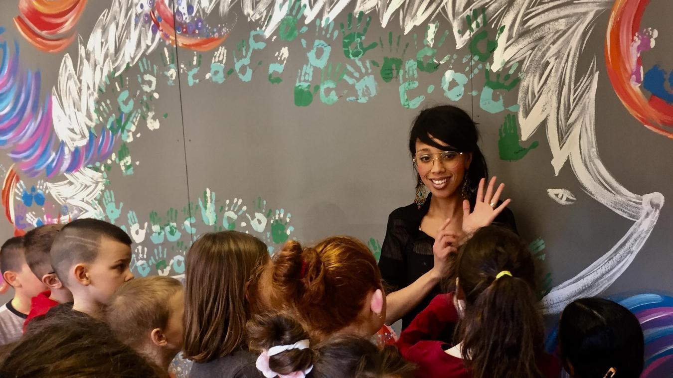 Saadia Karp est intervenue auprès de 200 enfants.