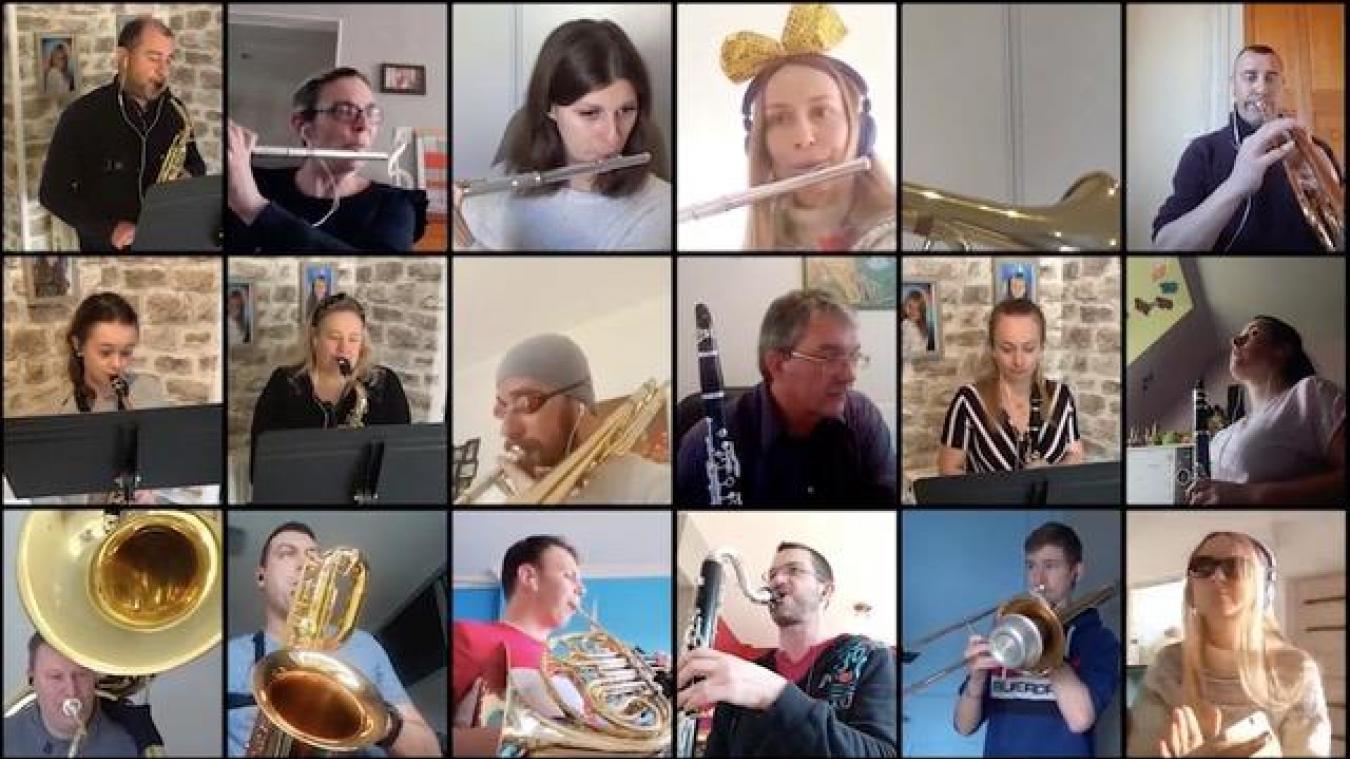 Malgré le confinement, les 65 musiciens de l'harmonie de Saint-Laurent-Blangy se sont retrouvés... sur YouTube