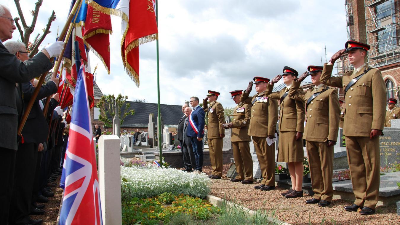 Les soldats britanniques sont reçus chaque année le 27 mai à Hondeghem. Ici en 2019.