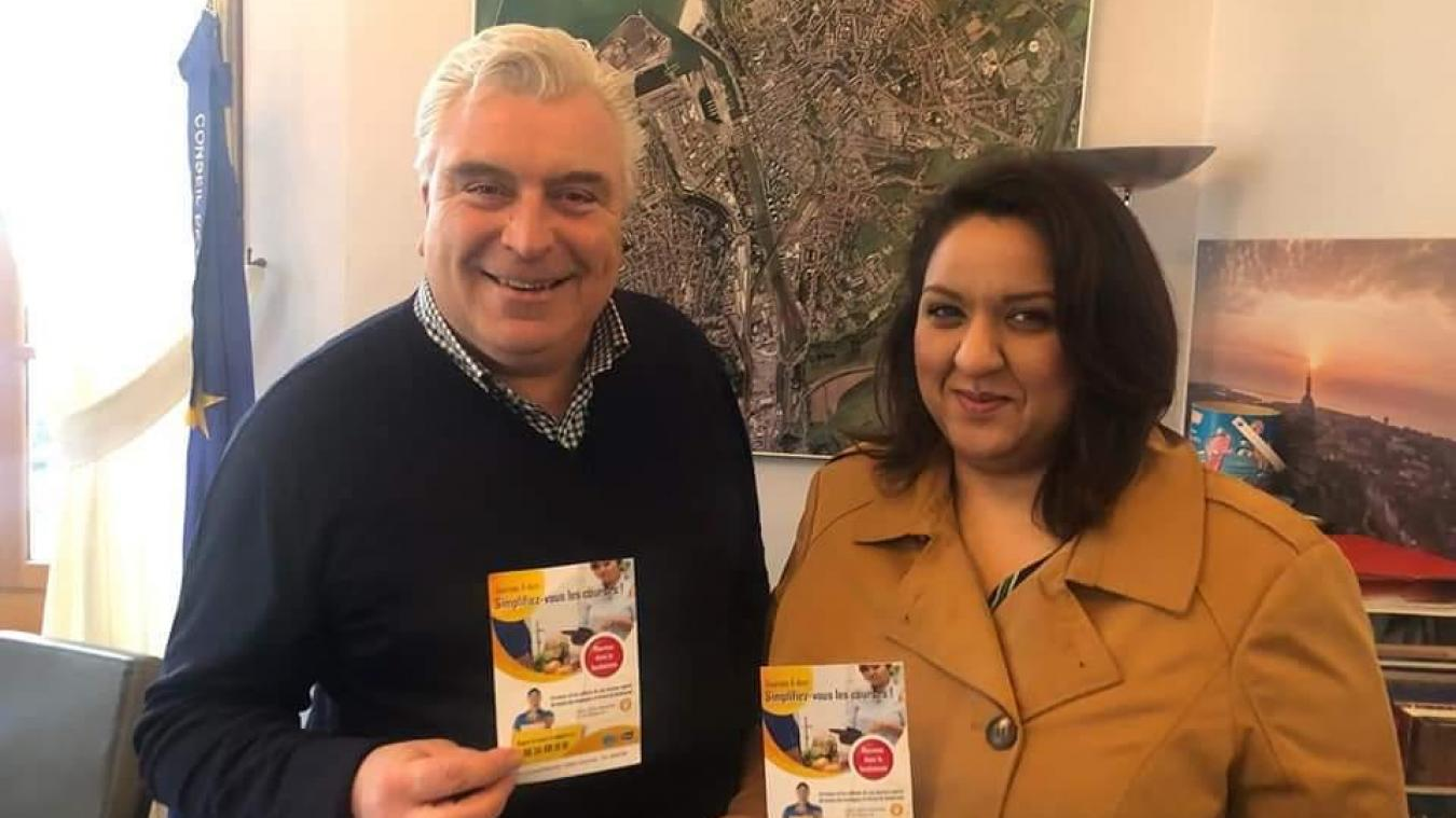 Dounia Ait Taleb a pu bénéficier d'un petit coup de pouce du maire, Frédéric Cuvillier, qui a partagé le lancement de son activité sur les réseaux sociaux.