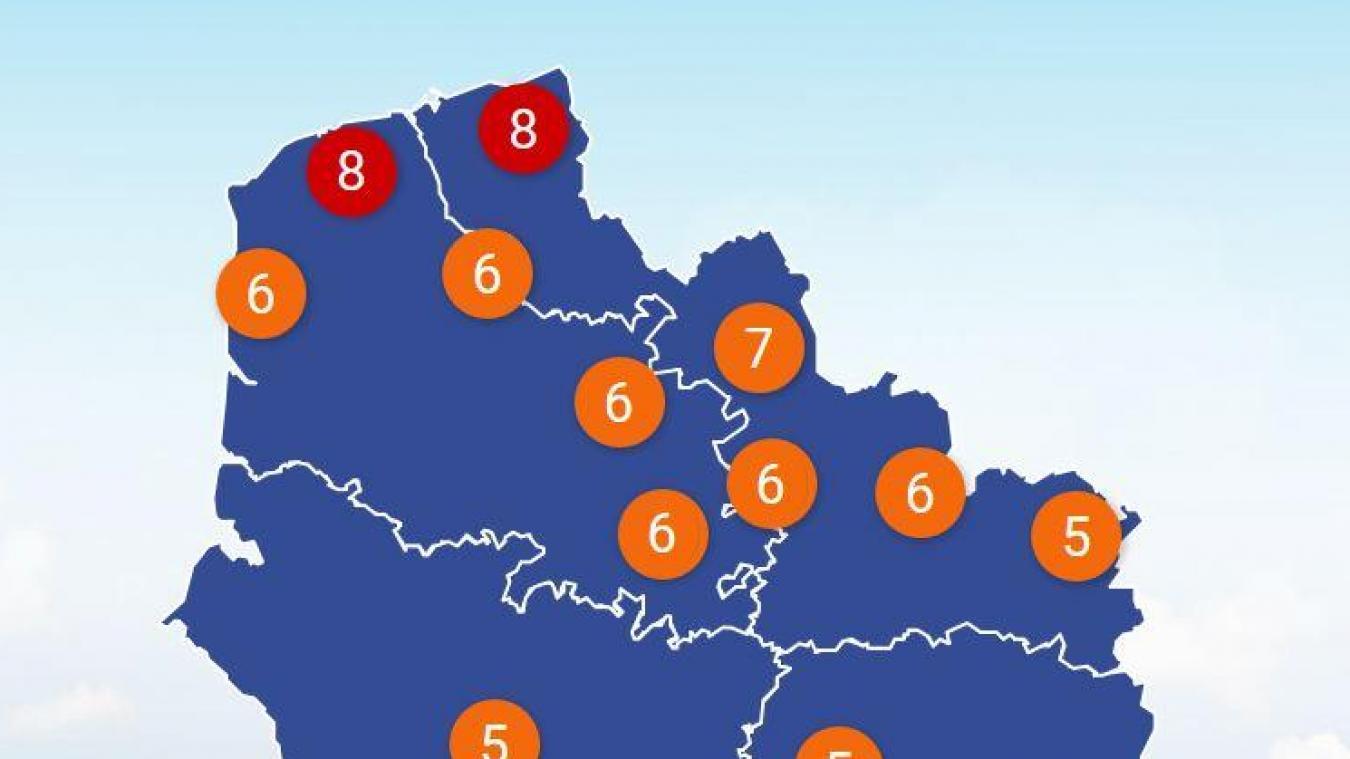 Pic de pollution mercredi et jeudi: la qualité de l'air est mauvaise à Calais