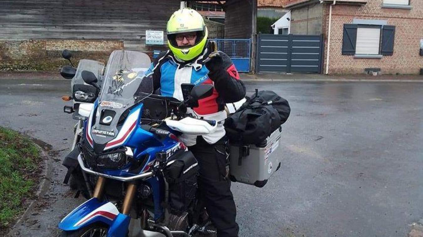 Fabrice Pagnier était prêt à partir. Après son départ d'Isbergues, il devait être reçu en grande pompe par la concession Honda de Seclin.