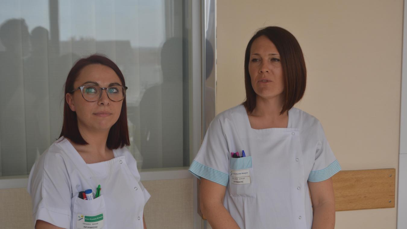 Marie Denaro et Émilie Decloedt sont infirmières au Centre hospitalier de Dunkerque.