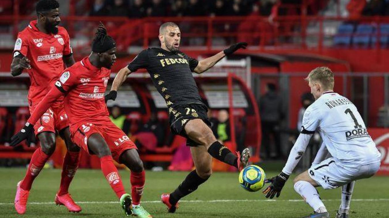 Match de Ligue 1 Dijon-Monaco le 22 février 2020.