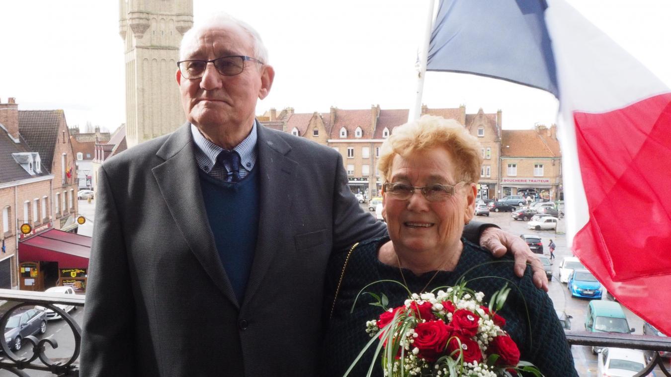 Jean et Monique ont célébré leurs noces de diamant fin février, à la mairie.