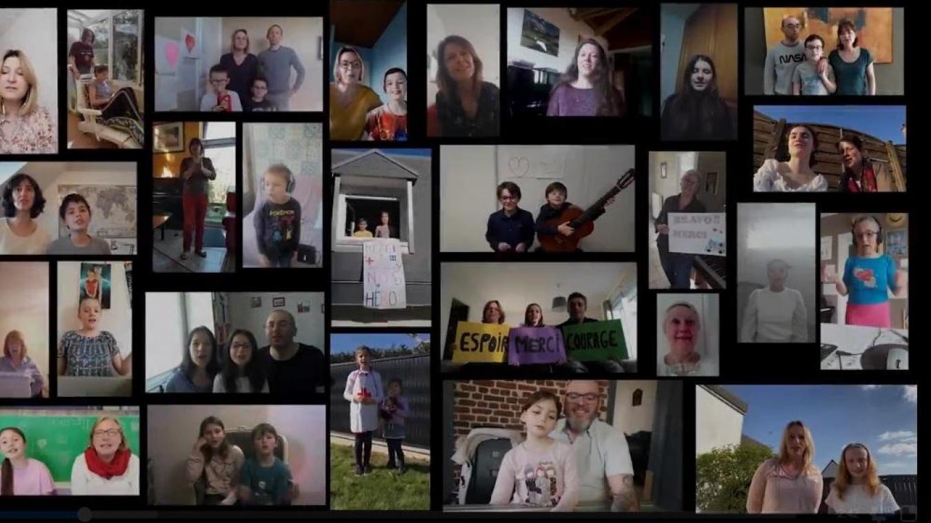 Les élèves et leurs familles ont joué le jeu pour la réalisation du clip !