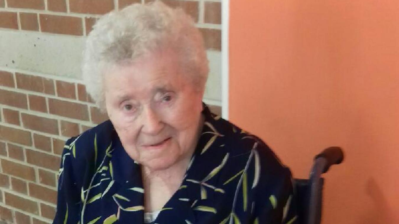 Brigitte Decouvelaere, lors de ses 105 ans.