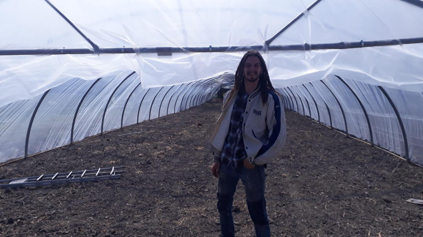 500 m² de serres tunnel ont été installés pour la production de légumes dans les Jardins du Vliet.
