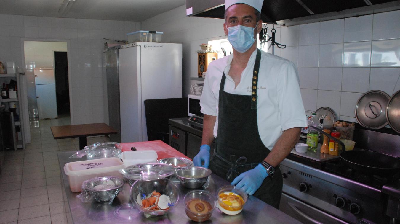 Sébastien Adam a les mêmes exigences pour cette activité traiteur que pour son restaurant.