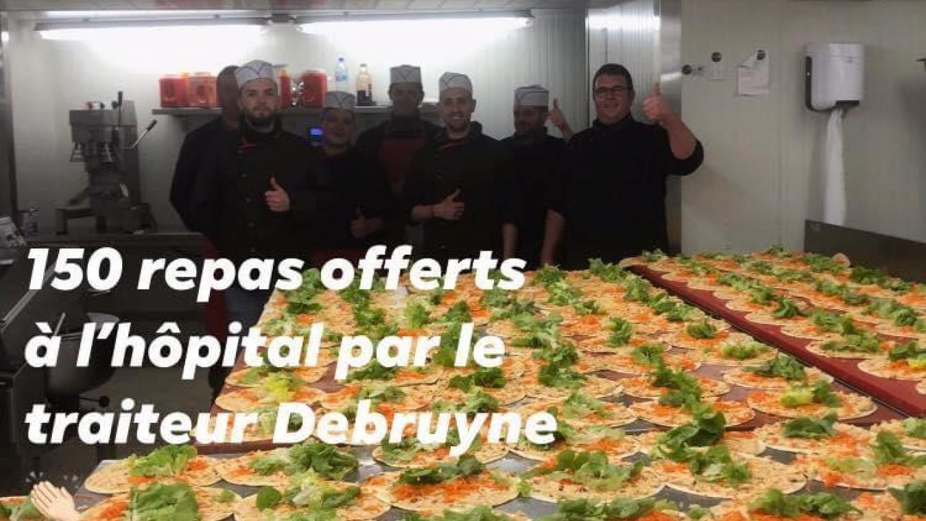 La boucherie Debruyne a offert des repas il y a quelques jours